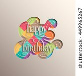 illustration of happy birthday...   Shutterstock .eps vector #449965267