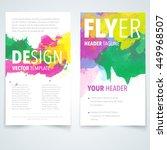 abstract vector brochure... | Shutterstock .eps vector #449968507