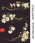 floral ornament graphic...