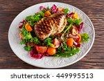 grilled chicken breast fillet... | Shutterstock . vector #449995513