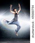 Young Woman Modern Dance. Wate...