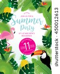 summer party tropical... | Shutterstock .eps vector #450012613