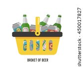 shopping basket with beer. beer ... | Shutterstock .eps vector #450017827