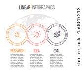 linear infographics. timeline... | Shutterstock .eps vector #450049213