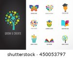 education icons  elements set.... | Shutterstock .eps vector #450053797
