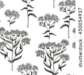 milfoil vector pattern  floral... | Shutterstock .eps vector #450054937