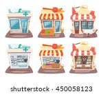 store front and interior set.... | Shutterstock .eps vector #450058123