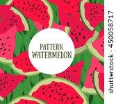 pattern watermelon. vector... | Shutterstock .eps vector #450058717