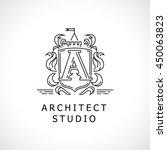 vector flat city architect... | Shutterstock .eps vector #450063823