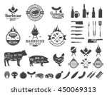 barbecue logo and labels. bbq ...