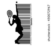 silhouette of a tennis player... | Shutterstock .eps vector #450072967