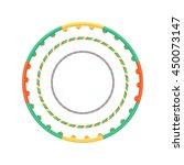 multicolor vector plastic hula...   Shutterstock .eps vector #450073147