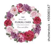 Vintage Floral Greeting Card...