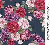 floral seamless pattern with... | Shutterstock . vector #450080203
