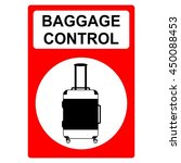 baggage control | Shutterstock .eps vector #450088453
