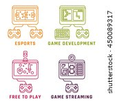 game related concepts  line... | Shutterstock .eps vector #450089317