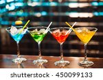 multicolored cocktails at the... | Shutterstock . vector #450099133