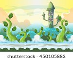 Cartoon Vector Heaven Landscap...
