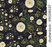 seamless summer floral pattern... | Shutterstock .eps vector #450108127