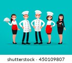 restaurant team. chef  cook ... | Shutterstock .eps vector #450109807
