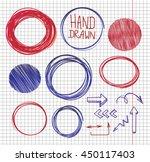 vector set of hand drawn... | Shutterstock .eps vector #450117403