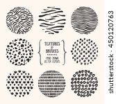hand drawn textures and brushes.... | Shutterstock .eps vector #450120763