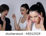 young woman suffering | Shutterstock . vector #45012529