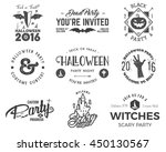 halloween 2016 party label... | Shutterstock .eps vector #450130567