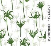 vector tropical leaves pattern. ... | Shutterstock .eps vector #450131977
