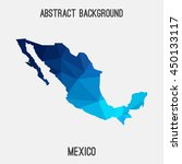 mexico map in geometric... | Shutterstock .eps vector #450133117