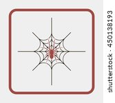 illustration of spider in a web. | Shutterstock .eps vector #450138193