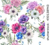 summer watercolor vintage... | Shutterstock . vector #450138943
