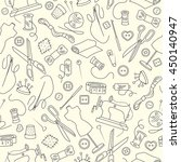seamless pattern on the theme... | Shutterstock .eps vector #450140947
