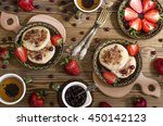 cheese cakes with coconut flour ... | Shutterstock . vector #450142123