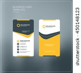 vertical business card print... | Shutterstock .eps vector #450148123