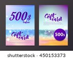 a gift certificate to the sea... | Shutterstock .eps vector #450153373