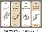 hand drawn label set with... | Shutterstock . vector #450162727