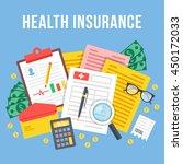health insurance  life... | Shutterstock .eps vector #450172033