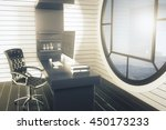 side view of office interior... | Shutterstock . vector #450173233