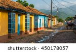 colorful old buildings line the ... | Shutterstock . vector #450178057