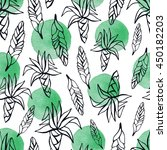 tropical seamless pattern with... | Shutterstock .eps vector #450182203