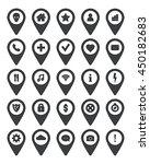 black navigation icon set. | Shutterstock .eps vector #450182683