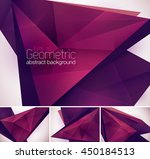 geometric abstract background.... | Shutterstock .eps vector #450184513
