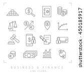 set of line thin business and... | Shutterstock .eps vector #450185917