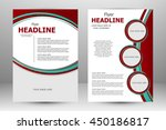 vector flyer template design.... | Shutterstock .eps vector #450186817