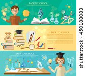 back to school banners... | Shutterstock .eps vector #450188083