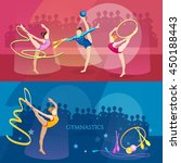 gymnastics banner rhythmic... | Shutterstock .eps vector #450188443