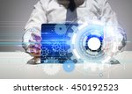 technology concept with... | Shutterstock . vector #450192523