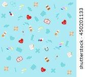 medicine icons  flat set  ... | Shutterstock .eps vector #450201133