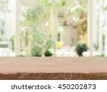 stone board empty table in... | Shutterstock . vector #450202873